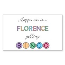 Florence BINGO Rectangle Decal