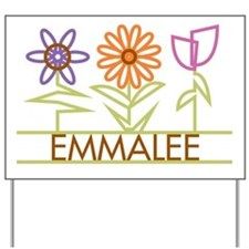 Emmalee with cute flowers Yard Sign