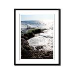 Sunny day at Sea - Framed Panel Print