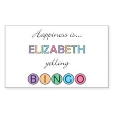 Elizabeth BINGO Rectangle Decal