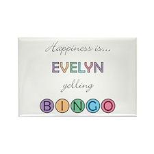 Evelyn BINGO Rectangle Magnet