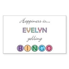 Evelyn BINGO Rectangle Decal