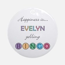 Evelyn BINGO Round Ornament