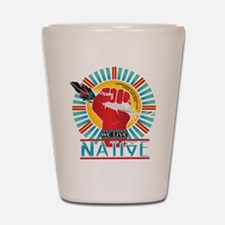 Funny Native american Shot Glass
