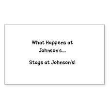 Big Johnson's Rectangle Decal