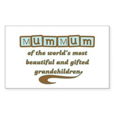 MumMum of Gifted Grandchildren Decal