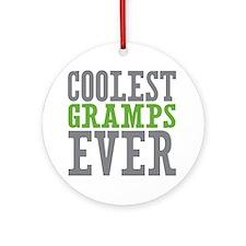 Coolest Gramps Ornament (Round)