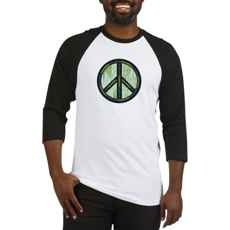 Peace. Calming Teal. Baseball Jersey