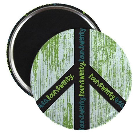 Peace. Calming Teal. Magnet
