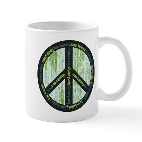 Peace. Calming Teal. Mug