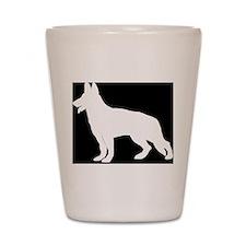 White German Shepherd Shot Glass
