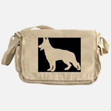White German Shepherd Messenger Bag