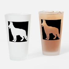White German Shepherd Drinking Glass