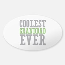 Coolest Granddad Sticker (Oval)