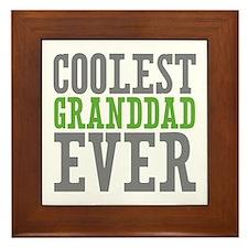 Coolest Granddad Framed Tile