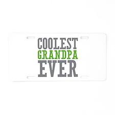 Coolest Granpda Aluminum License Plate