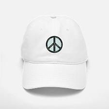 Peace. Calming Teal. Baseball Baseball Cap