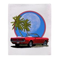 Mustang convertible Throw Blanket