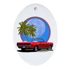 Mustang convertible Ornament (Oval)