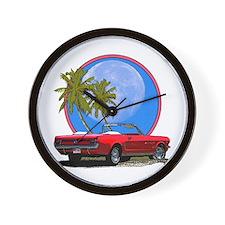 Mustang convertible Wall Clock