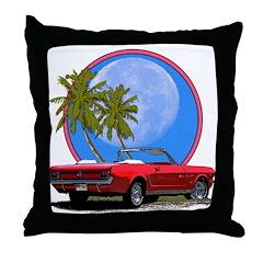 Mustang convertible Throw Pillow