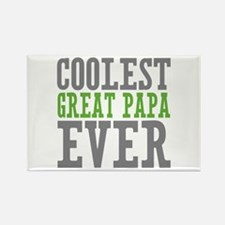 Coolest Great Papa Rectangle Magnet