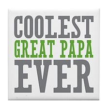 Coolest Great Papa Tile Coaster