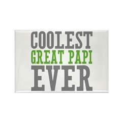Coolest Great Papi Rectangle Magnet (100 pack)