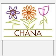 Chana with cute flowers Yard Sign