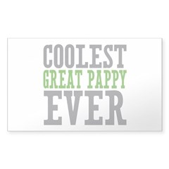 Coolest Great Pappy Sticker (Rectangle 10 pk)