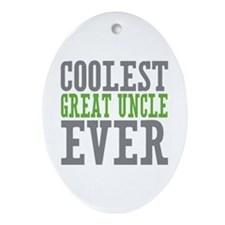 Coolest Great Uncle Ornament (Oval)