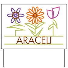 Araceli with cute flowers Yard Sign