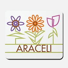 Araceli with cute flowers Mousepad