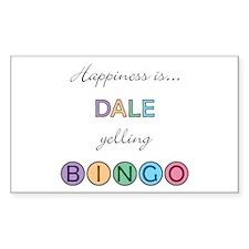 Dale BINGO Rectangle Decal