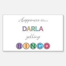 Darla BINGO Rectangle Decal