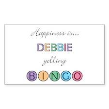 Debbie BINGO Rectangle Decal