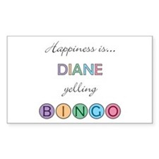 Diane BINGO Rectangle Decal
