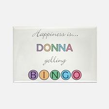 Donna BINGO Rectangle Magnet