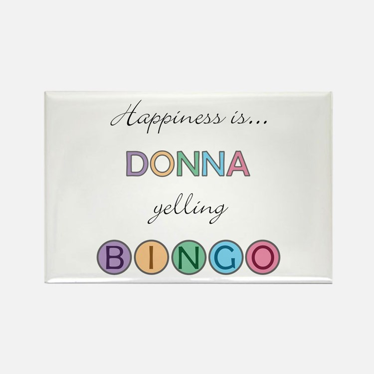 Donna BINGO Rectangle Magnet