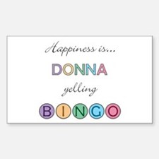 Donna BINGO Rectangle Decal