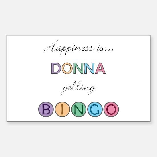 Donna BINGO Rectangle Decal