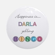 Darla BINGO Round Ornament