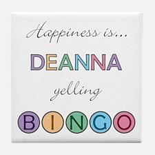 Deanna BINGO Tile Coaster
