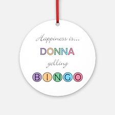 Donna BINGO Round Ornament