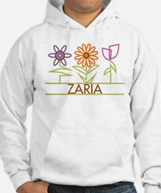 Zaria with cute flowers Hoodie Sweatshirt