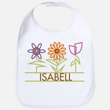 Isabell with cute flowers Bib