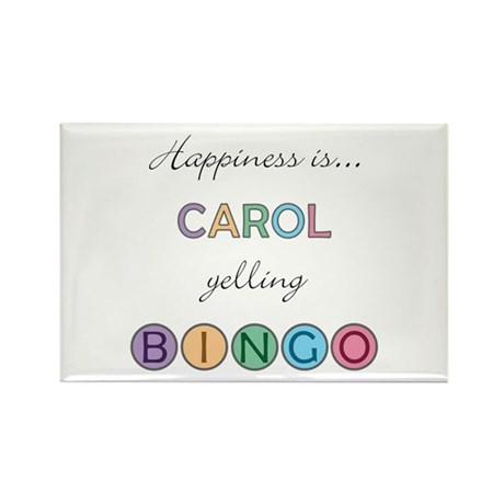 Carol BINGO Rectangle Magnet