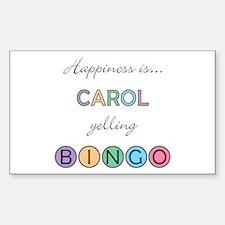 Carol BINGO Rectangle Decal