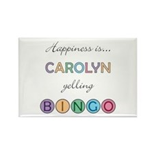Carolyn BINGO Rectangle Magnet