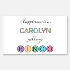 Carolyn BINGO Rectangle Decal